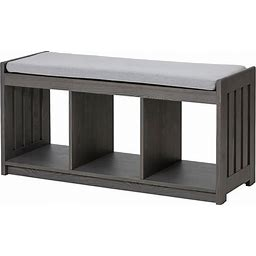 IKEA - PANGET Storage Bench, Dark Gray/Stained, Width: 43 1/4 ""