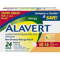 Alavert Allergy Orally Disintegrating Tablets - Citrus Burst, 10Mg   60 Count