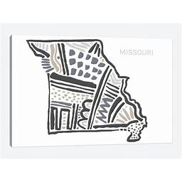 Missouri Canvas Artwork Print By Statement Goods