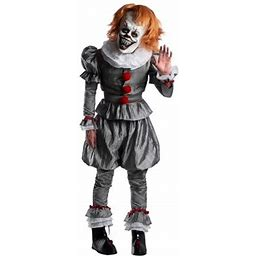 Halloween Adult IT Chapter 2 Pennywise Costume, Men's, Size: Large, Gray