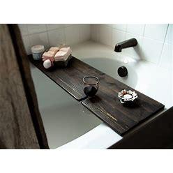 Bathtub Tray, Bathtub Caddy With Wine Glass Holder, Bathroom Decor, Rustic Bathroom Organization