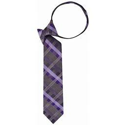 George Men's Zipper Classic Plaid Tie, Size: One Size, Purple