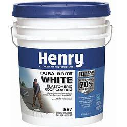 Henry Elastomeric Roof Coating,4.75 Gal Model: HE587372