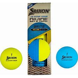 Srixon Q-Star Tour Divide Half Yellow / Blue - Sleeve 3 Matte Balls