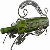 Wine Bodies Grape Vines Wine Bottle Holder - Silver