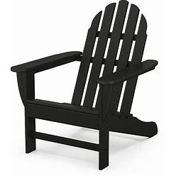Polywood Classic Adirondack Chair In Black - Polywood - Outdoor Relaxers - Black