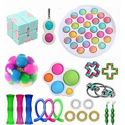 WOAILUO Fidget Toy Set, Cheap Sensory Fidget Toys Pack Figetget Toys Pack Figit Toys (21Pcsc)