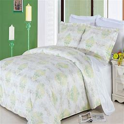 Clearance: Soft 100% Cotton Printed 3 Piece Duvet Cover Set-King/California King-Lana, Yellow