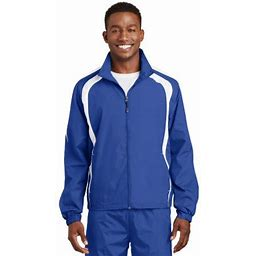 Sport-Tek Colorblock Raglan Jacket, Men's, Size: 4XL, Blue