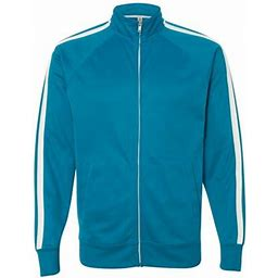 Independent Trading Co. Independent Trading B23476213 Unisex Poly-Tech Full-Zip Track Jacket, Aster Blue - Small, Adult Unisex