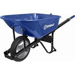 Kobalt 6-Cu Ft Steel Wheelbarrow With Flat-Free Tire(S) In Blue   P6-SF-K 34402