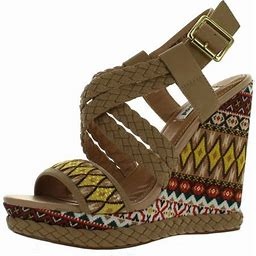 Not Rated Women's Monaco Wedge Sandals, Size: 9.5 B(Medium) US, Beige