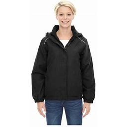 Ash City Core 365 Brisk Women's Roll Away Hood Insulated Jacket, Style 78189, Size: 2XL, Black