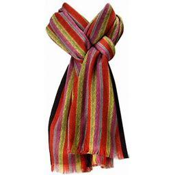 Amtal Women Multi Color Stripes Design Pashmina Shawl Oblong Casual Soft Scarf, Women's, Size: One Size, Green