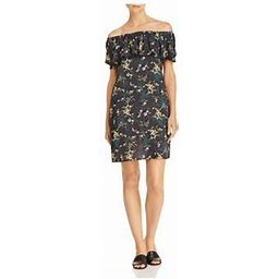 Velvet BY Graham & Spencer Womens Mini Floral Print Casual Dress, Women's, Size: XS, Green