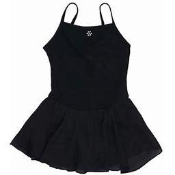 Danshuz Black Camisole Dress Rhinestones Tears Accent Dance Dress Girls 8-10, Girl's