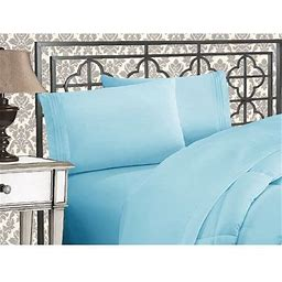 1500 Thread Count Egyptian Quality Bedding Collection Deep Pocket, Wrinkle & Fade Resistant,Full Aqua Blue