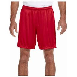 A4 Men's 7 Inch Ultra Tight Comfort Performance Interlock Short, Style N5244, Size: XL, Red