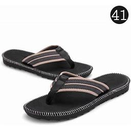Mixfeer Men's Sandals Flip-Flop Slipper Shoes -Slip EVA Flip Flops Flat Shoes With Comfortable Footbed For Outdoor Indoor Home Beach Sea, Size: 41,