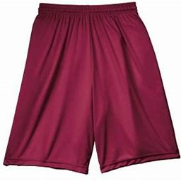 A4 Men's 9 Inch Moisture Wicking Performance Interlock Short, Style N5283, Size: Large, Red