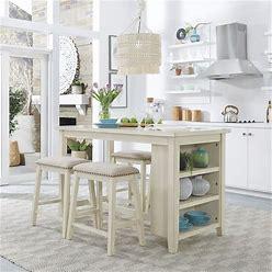 Liberty Furniture - Brook Creek 5 Piece Counter Set - White - 942W-CD-5CTS