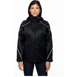 Ash City North End North End Angle Women's 3-In-1 Jacket With Fleece Liner, Style 78196, Size: XS, Black