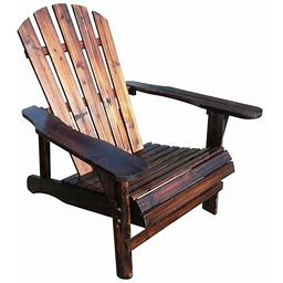 Leigh Country Adirondack Outdoor Chair Wood Brown, Size: Twin