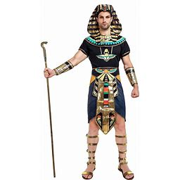 Spooktacular Creations Egyptian King Pharaoh Deluxe Halloween Costume For Men Role-Playing Cosplay