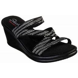 Skechers Rumblers Mega Flash Slide Wedge Sandal (Women's), Size: 7 Medium, Black