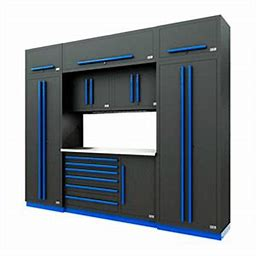 Fusion Pro 9-Piece Tool Cabinet System (Blue) 74004K