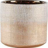 "Amazon Brand - Rivet Rustic Stoneware Crosshatch Indoor Outdoor Flower Plant Pot, 6.25""H, Bronze, Medium Planter"