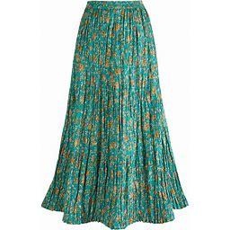 Traveler's Reversible Long Cotton Skirt - Medium