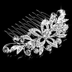 Jjshouse Ladies Magnificent Alloy Combs & Barrettes With Rhinestone (Sold In Single Piece)