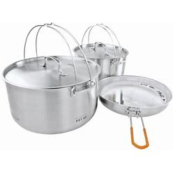 GSI Outdoors Glacier Stainless Steel Troop Cookset