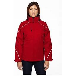 Ash City North End North End Angle Women's 3-In-1 Jacket With Fleece Liner, Style 78196, Size: 3XL, Red
