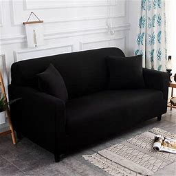 1/2/3/4 Seaters Sofa Covers Stretch Couch Covers Furniture Protector Soft With Antiskid Foam And Elastic Bottom(Sofa, Brown)