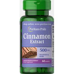 Puritan's Pride Cinnamon 500Mg 4:1 Extract-60 Caplets