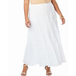 Plus Size Women's Cotton Crinkled Maxi Skirt By Jessica London In W...