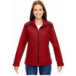 Ash City North End North End LadiesEmbossed Print Lightweight Jacket, Style 78188, Women's, Size: Small, Red