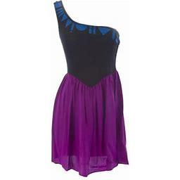 Vena Cava Women's Botanical One Shoulder Cocktail Dress 20234, Size: Small, Black