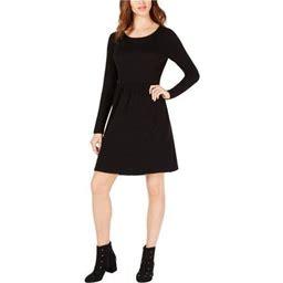Maison Jules Womens Pleated Fit & Flare Dress, Women's, Size: XS, Black