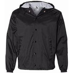 Augusta Sportswear - MMF - Hooded Coach's Jacket, Men's, Size: 2XL, Black