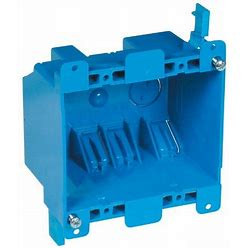 Carlon B225R-UPC Switch/Outlet Box, Old Work, 2 Gang, 3-15/16-Inch Length By 3-1/8-Inch Width By 2-3/4-Inch Depth, Blue