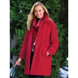 Women's Wool Balmacaan, Red L Misses, Appleseed's