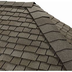 GAF Timbertex 20-Lin Ft Antique Slate Laminated Hip And Ridge Roof Shingles In Gray | 0843014