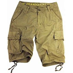 Stone Touch Jeans Stone Touch Men's Military-style Cargo Shorts 27s-KH Sizes:38, Beige