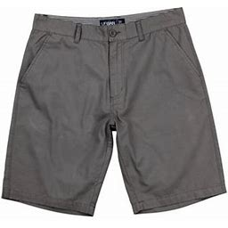 Urban Boundaries Men's Flat Front Chino Shorts (Gray, Size 42)