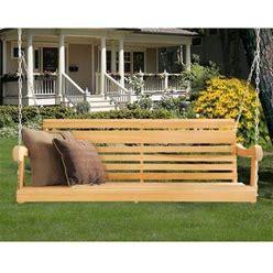 Hershy Way Cypress 5 Ft. Classic Grandpa Porch Swing, Brown
