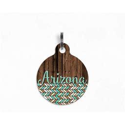 "Pet ID Tag | ""Arizona"" - Arid Horizon (Rustic Tribal Print) Dog Tag, Double Sided"
