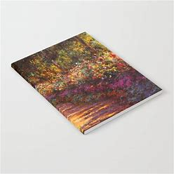 """Notebook   Garden Path At Giverny - Claude Monet 1902 By Stellaandgrace - 6"""" X 8"""" Lined - Society6"""